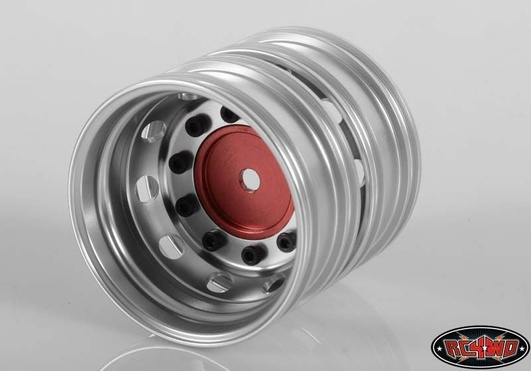 Boulder Semi Truck Rear Wheels with Cone Hub (Red) (2)