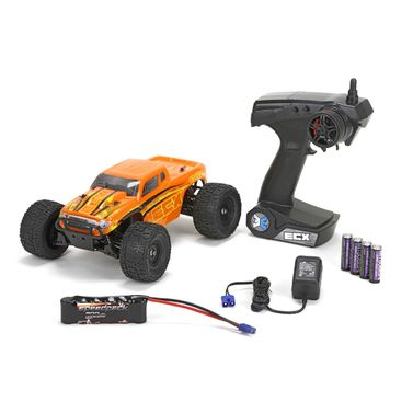 ECX Ruckus 1/18th 4WD Monster Truck orange/gelb RTR INT