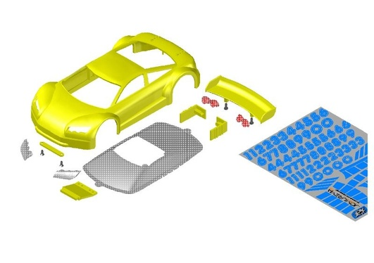 JR-GT01 Car Body Set-Yellow-